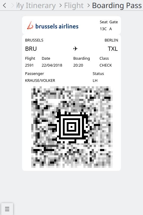 KDE Itinerary screenshot
