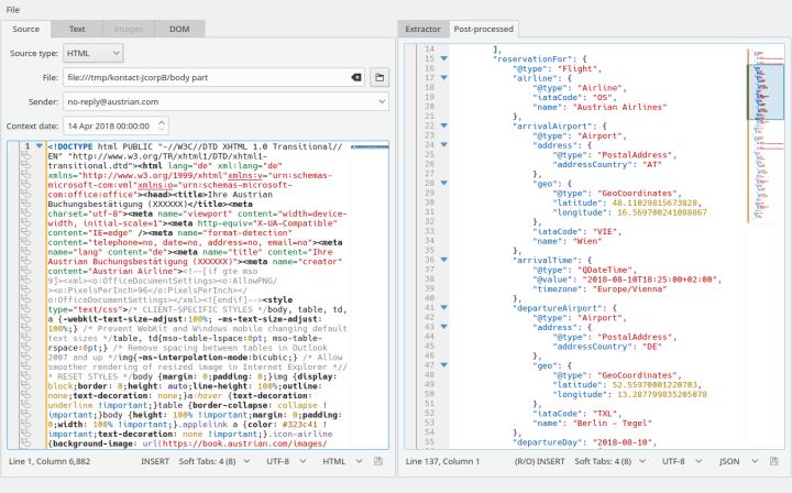 KItinerary Workbench screenshot