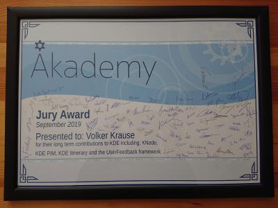 Akademy Jury Award 2019