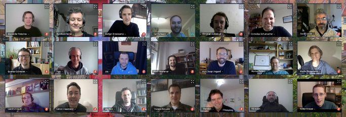 Group photo of the virtual KDE PIM meetup.